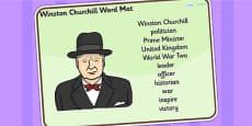 Winston Churchill Word Mat