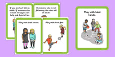 Playground Rules Sentence Cards