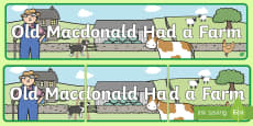 Old MacDonald Had a Farm Display Banner
