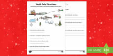 KS1 North Pole Direction Activity Sheet
