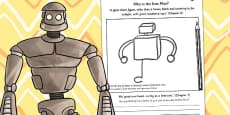 The Iron Man Character Sketch Activity Sheet