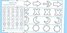 Visual Perception Odd One Out Shape Activity Sheet