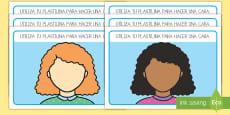 Tapices de plastilina: Caras