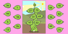 Number Bonds to 100 Beanstalk Activity