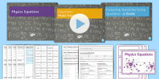 * NEW * GCSE Physics Equations Revision Lesson Pack