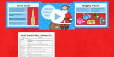 Advent Calendar Maths Challenges KS1