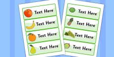 Editable Drawer - Peg - Name Labels (Fruit)