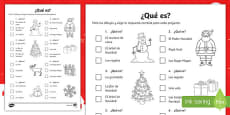 Christmas Quiz Activity Sheet Spanish