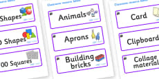 Magical Themed Editable Classroom Resource Labels