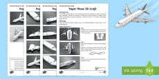Paper Plane 3D Craft Activity Sheet