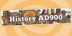 History AD900 Topic Display Banner