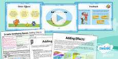 Computing: Scratch: Adding Effects Year 5 Lesson Pack 3