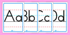 Uppercase and Lowercase Alphabet Posters Australian