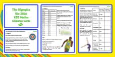 The Olympics Rio 2016 UKS2 Maths Challenge Cards