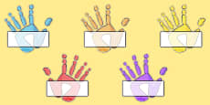 Editable Self Registration Labels (Handprints)