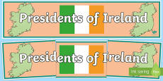 Presidents of Ireland Display Banner