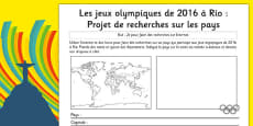 Rio 2016 Olympics Country Factfile French