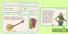 Traditional Irish Instruments Display Facts Posters
