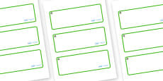 Eucalyptus Themed Editable Drawer-Peg-Name Labels (Blank)