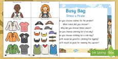 * NEW * Dress a Pirate Busy Bag Prompt Card Resource Pack