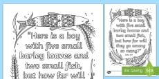* NEW * John 6:9 Mindfulness Coloring Page