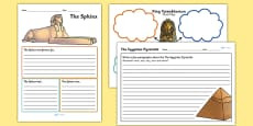 Ancient Egyptian Mind Maps and Activity Sheets
