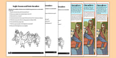 Anglo-Saxon and Scots Invaders Differentiated Reading Comprehension Activity