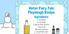 Winter Fairy Tale Playdough Recipe