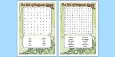 Beatrix Potter - The Tale of Benjamin Bunny Word Search
