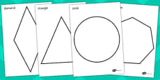 A4 2D Shape Coluring Posters