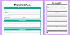 CV Template Work Sheet