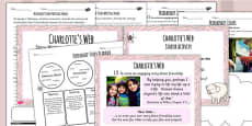 Charlotte's Web Inspired Story Writing Lesson Teaching Pack