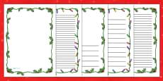 Christmas Themed Page Borders