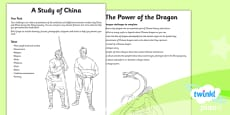 PlanIt - History UKS2 - The Shang Dynasty Unit Home Learning Tasks