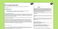 Science KS2 Year 5 Lifecycles Teacher Notes