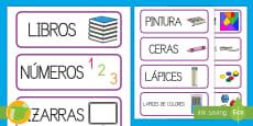 Tarjetas de vocabulario: El material de la clase