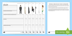 Character Activity Sheets