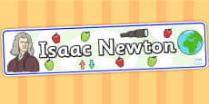 Isaac Newton Display Banner