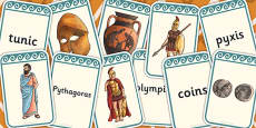 Ancient Greece Vocabulary Matching Flashcards