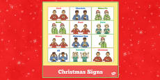 British Sign Language Christmas Signs