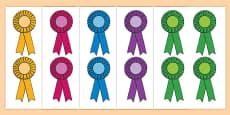 Editable Award Rosettes