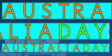 Australia Day Display Borders