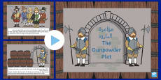 * NEW *The Gunpowder Plot Information PowerPoint KS1 Arabic/English