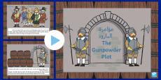 * NEW *The Gunpowder Plot Information PowerPoint KS1 Arabic/English