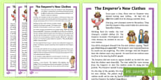 KS1 The Emperor's New Clothes Story