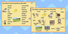 The Town Mouse and the Country Mouse Word Mat