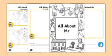 All About Me Booklet (EAL)