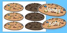 Editable Cookies Name Labels