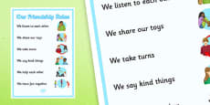 KS3 Our Friendship Rules Poster