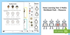 Learning from home Maths Workbook Year 2 Measures Activity Booklet